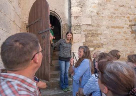 Besucher stürmten die Denkmäler - auch die Räume der Freimaurerloge Drei Schlüssel zum Aufgehenden Licht